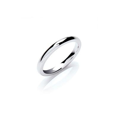18ct White Gold 2.5mm Court Wedding band