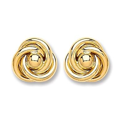 9ct Gold Medium Knot Stud