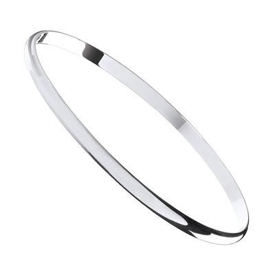 Silver 4mm D - Shaped Slave Bangle