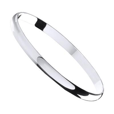 Silver 6mm D - Shaped Slave Bangle