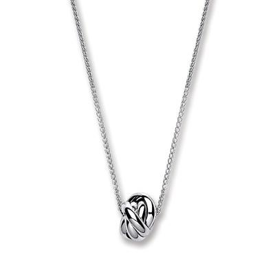 Silver Chain with Knot