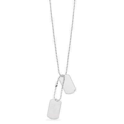 Silver Dog Tags 20