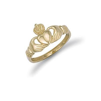 Yellow Gold Baby Claddagh Ring