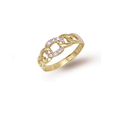 Yellow Gold Cz Baby Ring