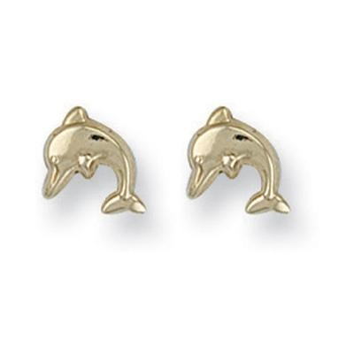Yellow Gold Dolphin Studs