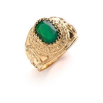 Yellow Gold Green Baby Collage Ring