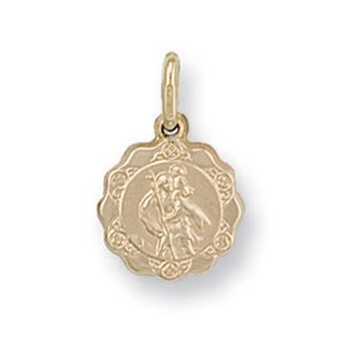 Yellow Gold Light Weight St Christopher Pendant