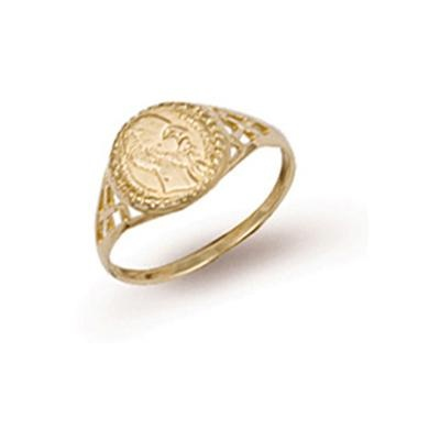 Yellow Gold Peso Ring