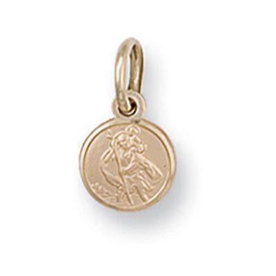 Yellow Gold St Christopher Pendant