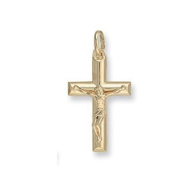 Yellow Gold Tubed Crucifix